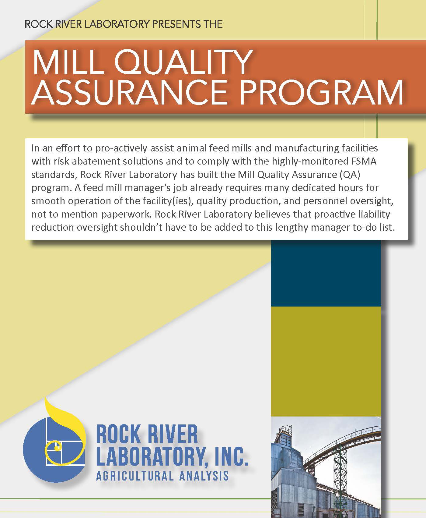 Rock River Laboratory Mill QA Program Detailer