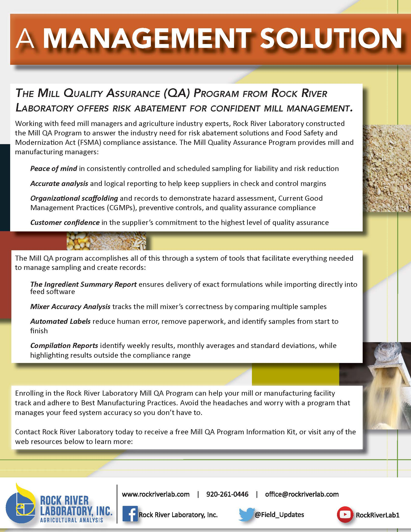 Rock River Laboratory Mill QA Program Information Sheet